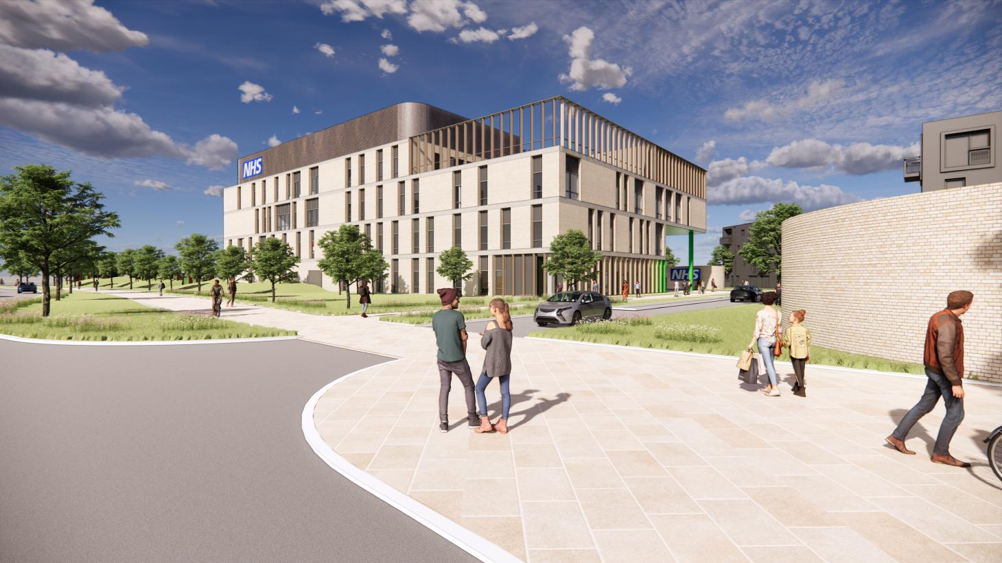 An artist's impression of how the new eye hospital would look once it is built